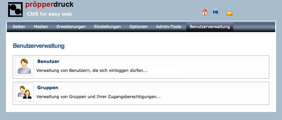 cms Benutzerverwaltung